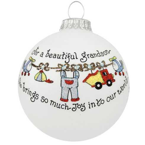 $22.00 For a Beautiful Grandson Ornament