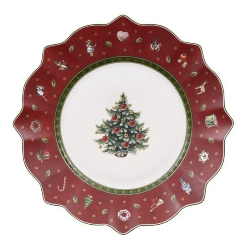 Red Salad Plate