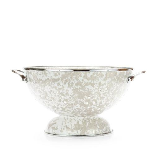 Golden Rabbit  Taupe Swirl Large Colander $44.50