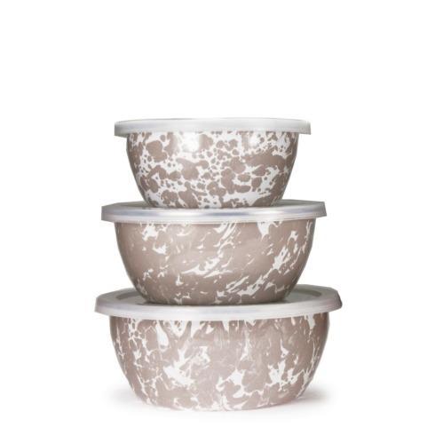 Golden Rabbit  Taupe Swirl Nesting Bowls $38.00