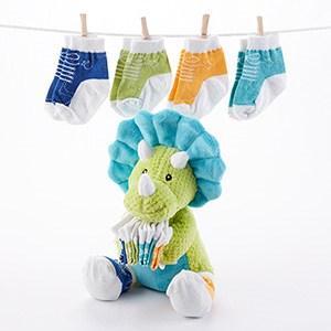 $32.00 Tricerasocks Plush Dino with Socks