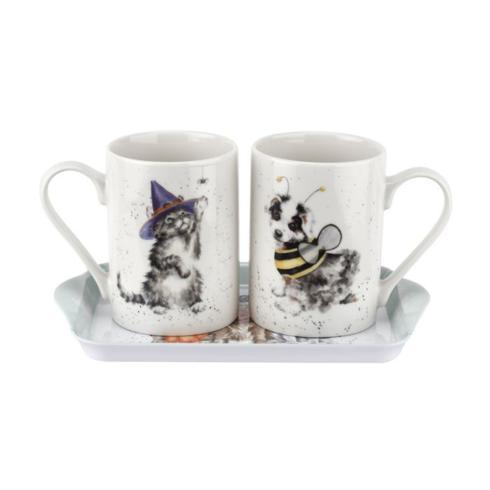 $25.00 Trick or Treat Mug and Melamine Tray 3 Piece Set