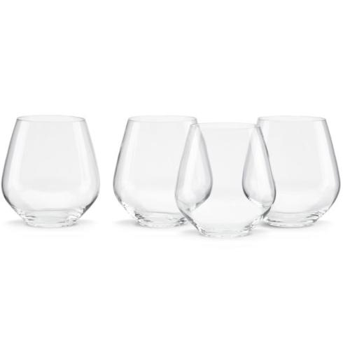 Lenox  Tuscany Classics Stemless Simply Red Wine Glasses, Set of 4 $50.00