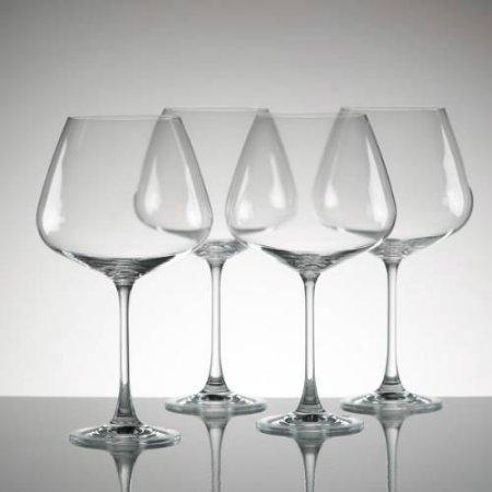 $40.00 Burgundy Wine Glasses, set of 4