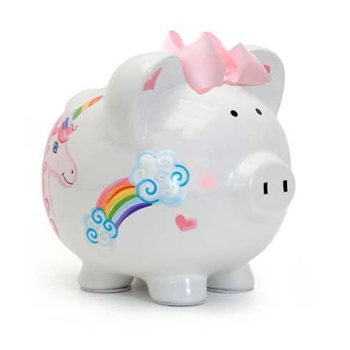 $38.00 Unicorns and Rainbows Piggy Bank