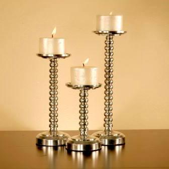 Pomeroy   Urban Polished Bubble Pillar Candlerholders, Set of 3 $66.00