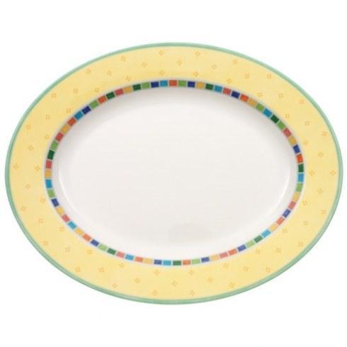 """Villeroy & Boch Twist Alea Dinnerware Twist Alea Limone Oval Platter, 16.5"""" $78.00"""