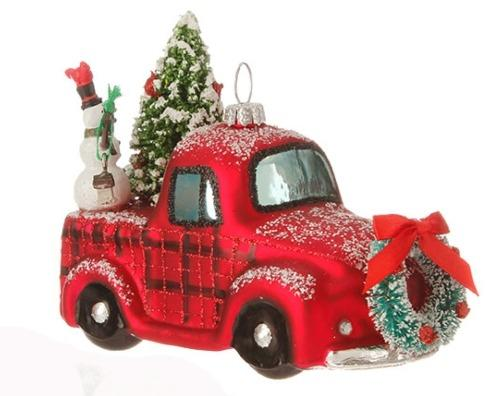 $16.00 Vintage Red Truck with Tree