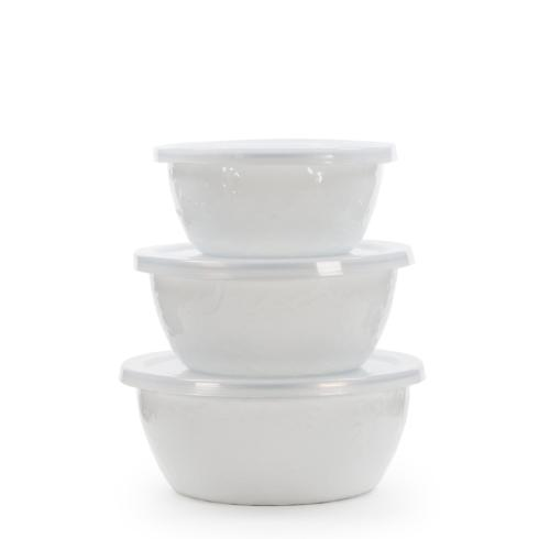 Golden Rabbit  Solid White Nesting Bowls $38.00