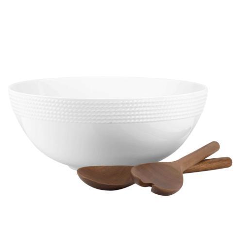 Kate Spade  Wickford Dinnerware Salad Set & Wooden Servers $125.00