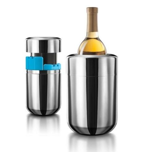 Final Touch  Bar Accessories Stainless Steel Wine Chiller with Removable Gel freezer Packs  $50.00