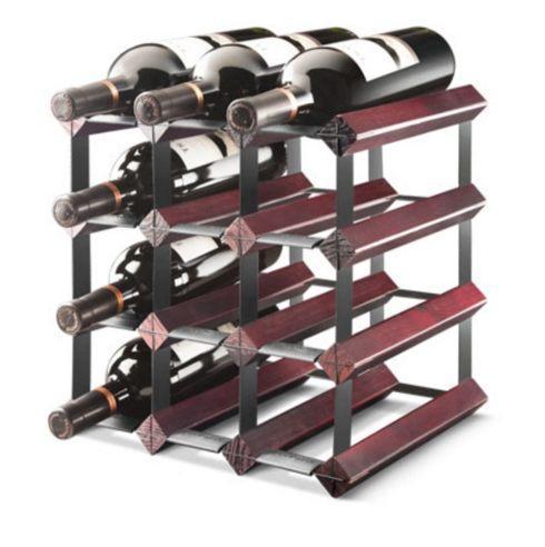Final Touch  Wine Racks 12 Bottle Assembled Cherry Wine Rack, Cherry Finish $56.00