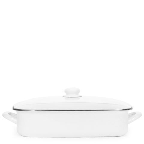 Golden Rabbit  Solid White Roasting Pan $111.50