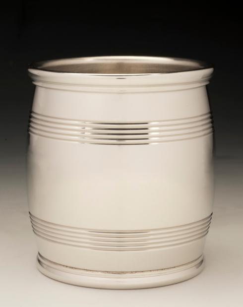 "$119.00 Mirror Finish Pewter 3"" Orig. Barrel Beaker 9 oz."