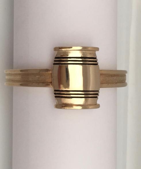 Lexington Silver  Asa Blanchard Small Mirror Finish Barrel  on Etruscan Napkin Ring $20.00