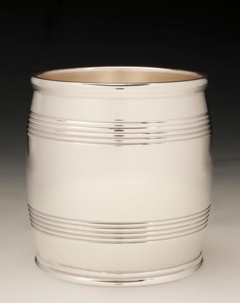 """$1,200.00 Sterling Silver 3"""" Barrel Beaker 9 oz. (6.2 Troy oz.)"""