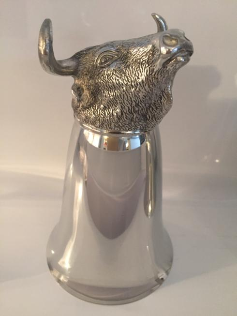 $198.00 Large Mirror Finish Bull Stirrup Cup 8 oz.