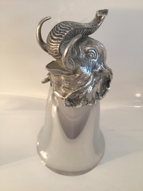$198.00 Large Mirror Finish Elephant Stirrup Cup 8 oz.