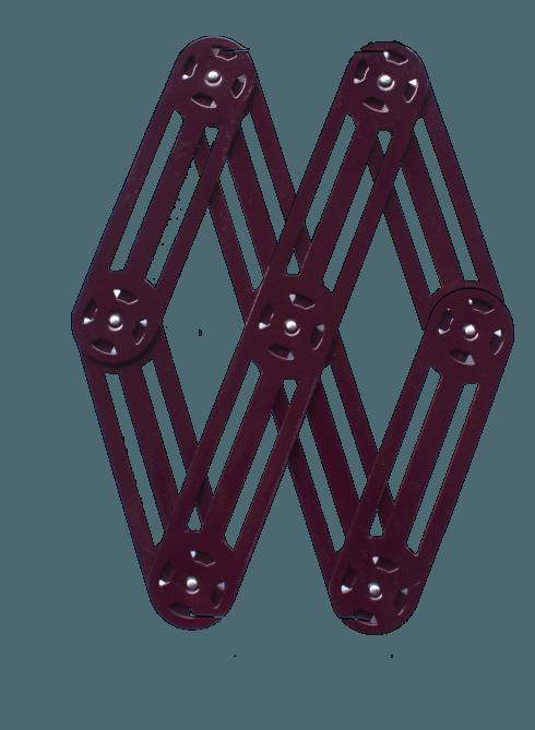 $75.00 Expendable metal trivet AUBERGINE - Roger Orfèvre