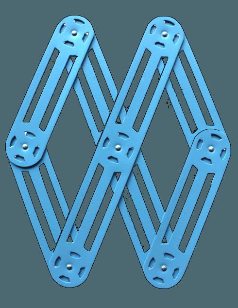 $75.00 Expendable metal trivet BLUE - Roger Orfèvre