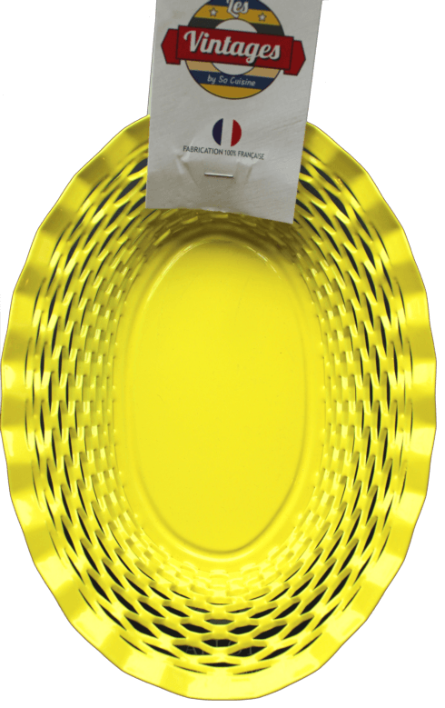 $75.00 Yellow oval basket LARGE - Roger Orfèvre