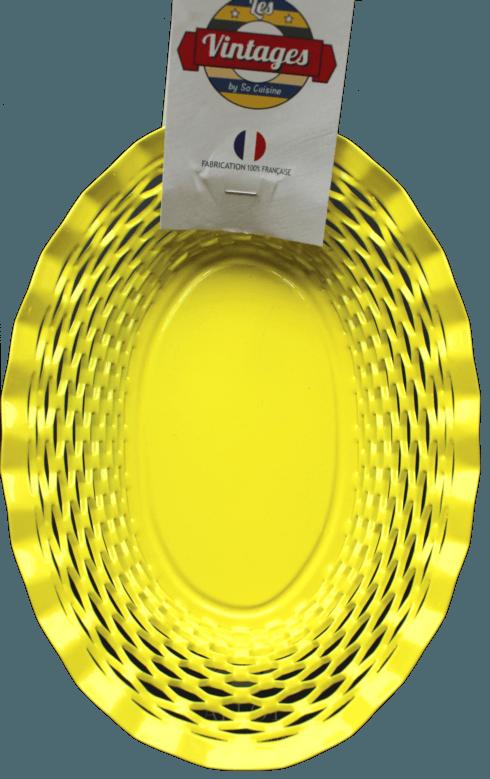 $45.00 Yellow oval basket MEDIUM - Roger Orfèvre