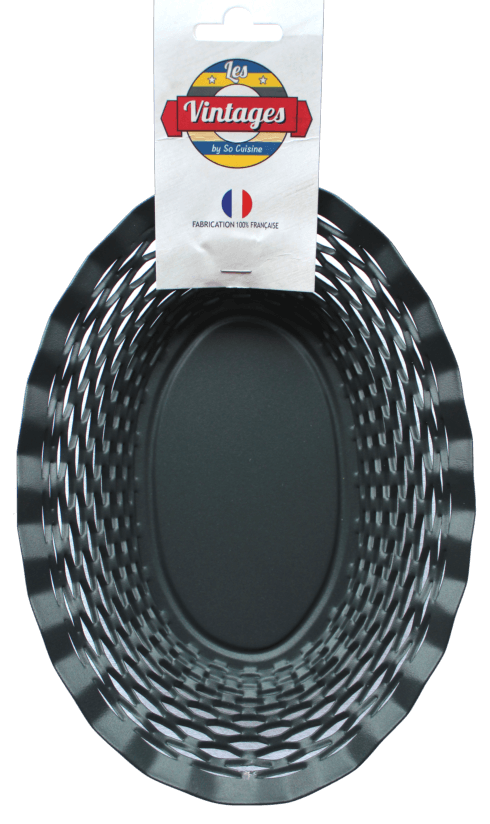 $75.00 Black oval basket LARGE - Roger Orfèvre