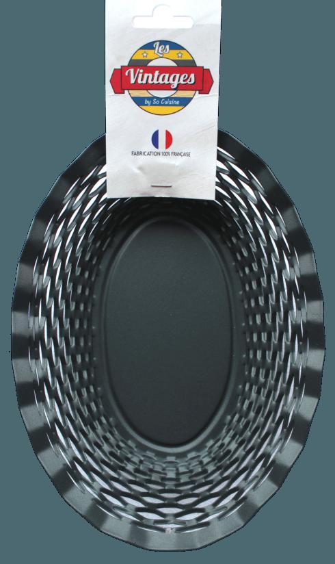 $45.00 Black oval basket MEDIUM - Roger Orfèvre