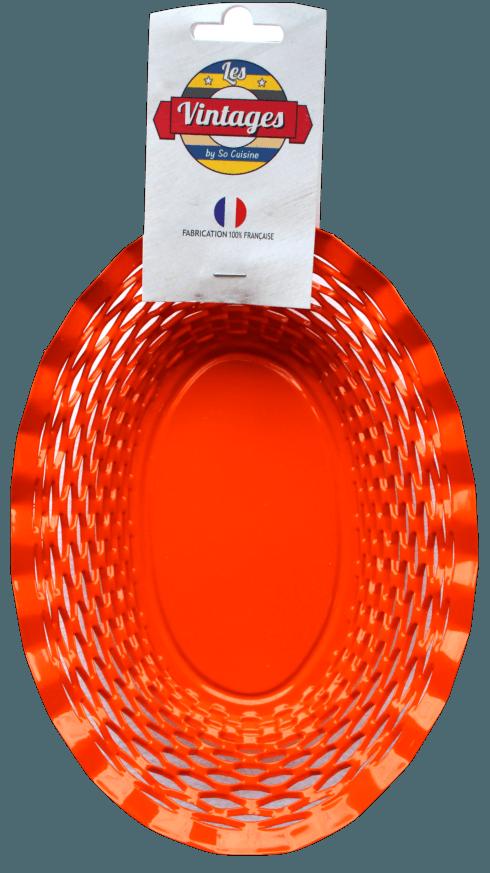 $75.00 Orange oval basket LARGE - Roger Orfèvre