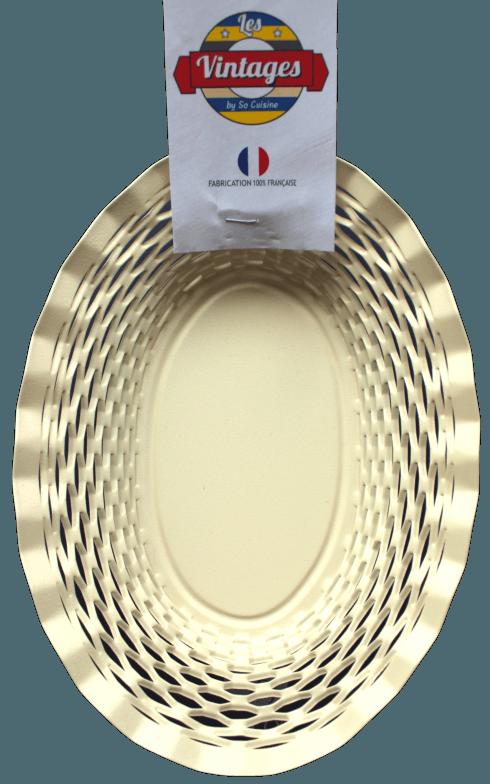 $75.00 Beige oval basket LARGE - Roger Orfèvre