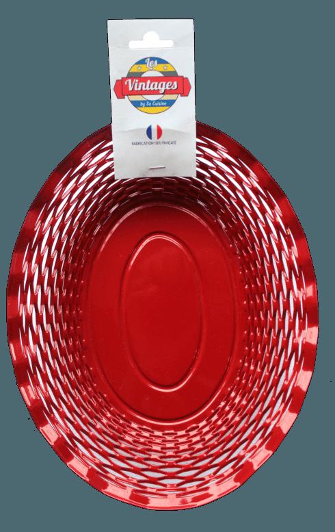 $45.00 Red oval basket LARGE - Roger Orfèvre