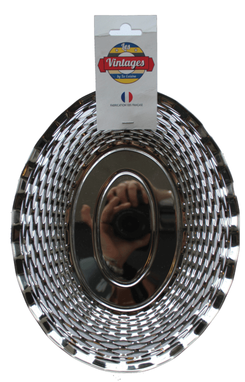 $45.00 Metal oval basket MEDIUM - Roger Orfèvre