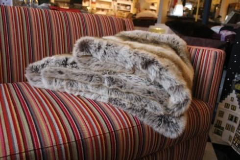 "$895.00 Monaco Faux Fur BED RUNNER 26""x98"" - Evelyne Prélonge"