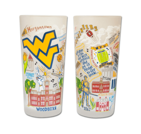 $17.00 WV University Catstudio Glass