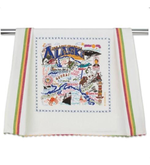 $20.00 Alaska Catstudio Dish Towel