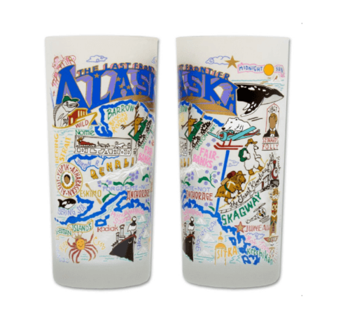 $16.50 Alaska Catstudio Glass