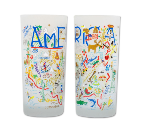 $16.50 America Catstudio Glass