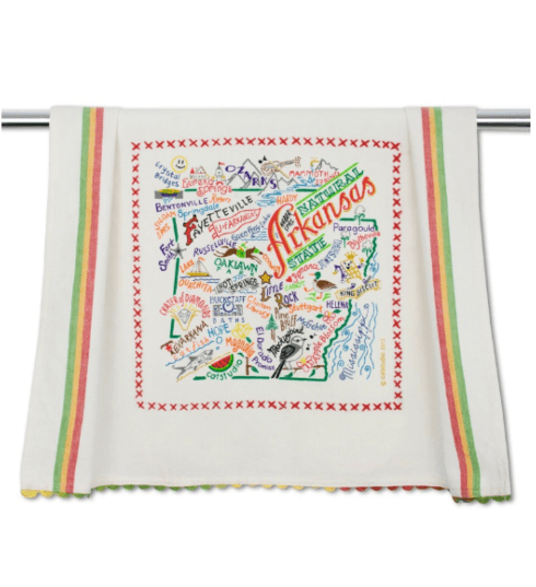 $20.00 Arkansas Catstudio Dish Towel