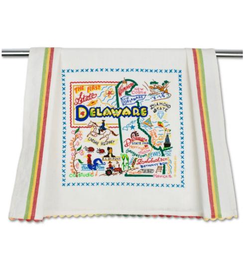 $20.00 Delaware Catstudio Dish Towel