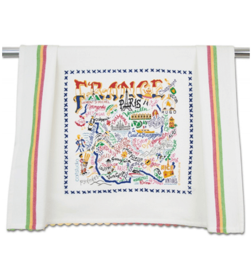 $20.00 France Catstudio Dish Towel
