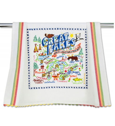 $20.00 Great Lakes Catstudio Dish Towel