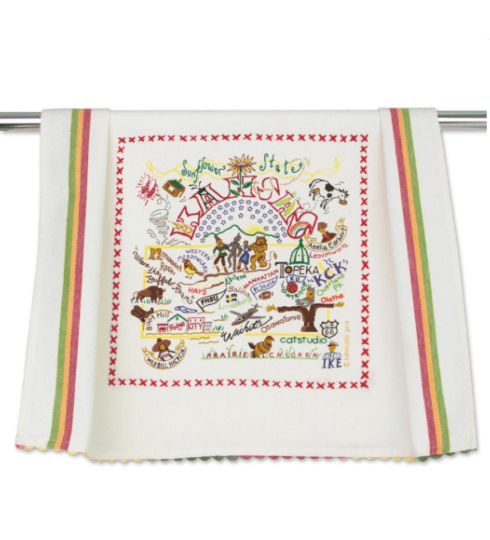 $20.00 Kansas Catstudio Dish Towel