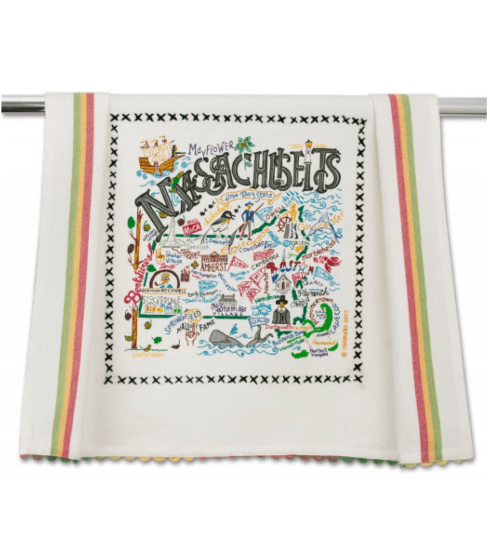 $20.00 Massachusetts Catstudio Dish Towel