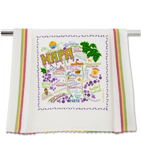 $20.00 Napa Valley Catstudio Dish Towel