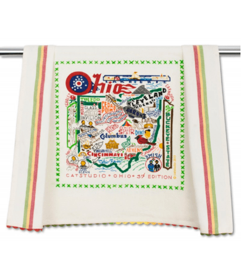 $20.00 Ohio Catstudio Dish Towel