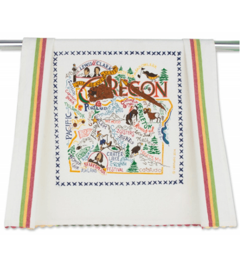 $20.00 Oregon Catstudio Dish Towel