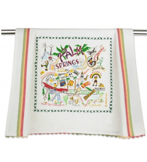 $20.00 Palm Springs Catstudio Dish Towel