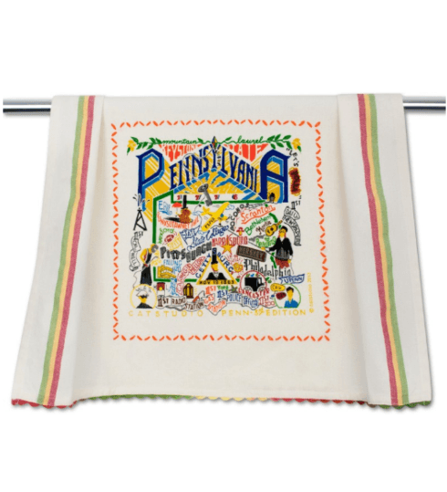 $20.00 Pennsylvania Catstudio Dish Towel