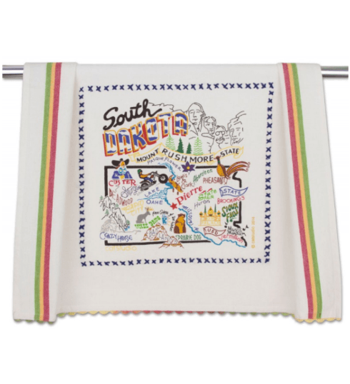 $20.00 South Dakota Catstudio Dish Towel