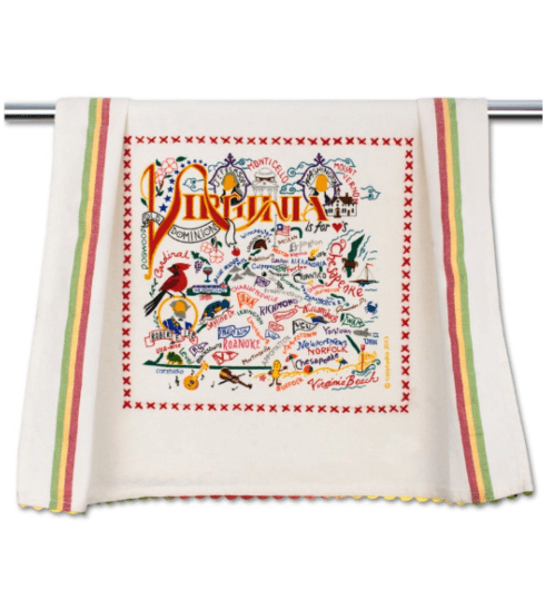 $20.00 Virginia Catstudio Dish Towel